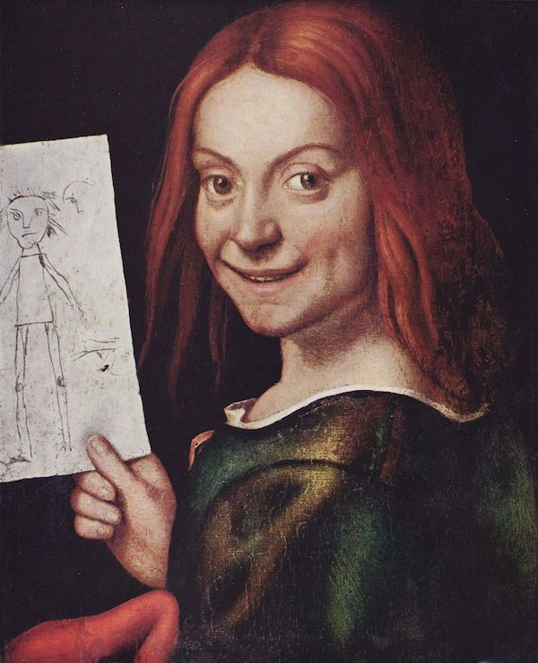 Giovanni Francesco Caroto, Portrait of a Child With a Drawing