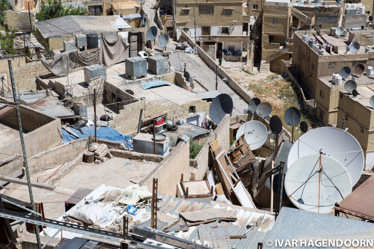 Rooftop with satellite dishes, Amman, Jordan