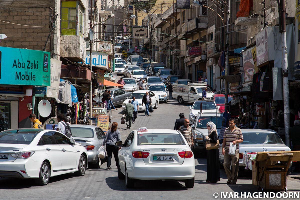 Traffic congestion, Amman, Jordan