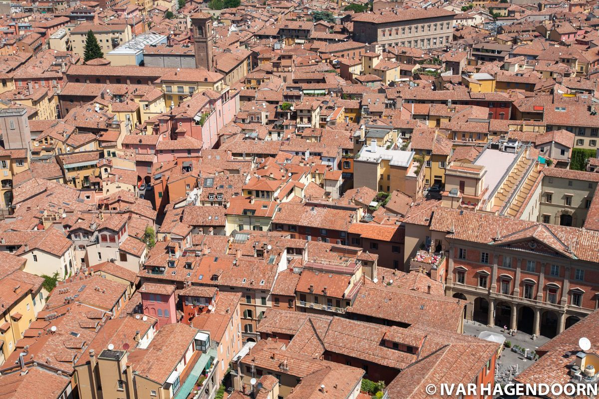 Bologna, View from the top of the Asinelli Tower