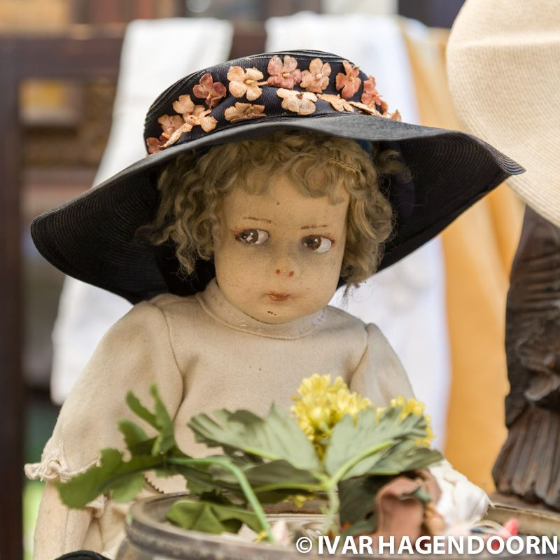 Vintage doll at a flea market, Bologna
