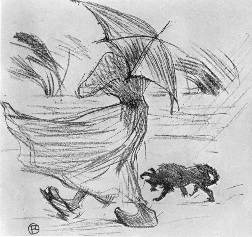 Henri Toulouse-Lautrec, Ce qui dit la pluie