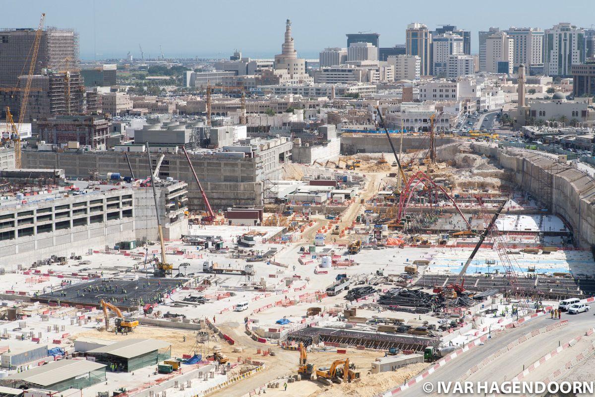 Construction site, Doha