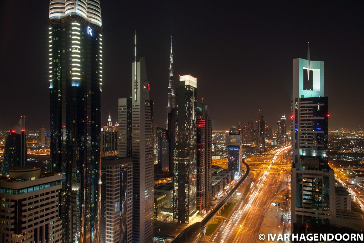 The Skyline of Dubai By Night
