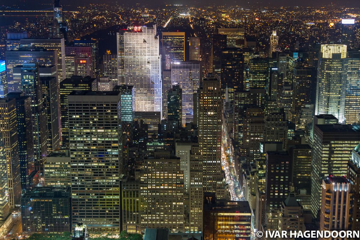 Night view of Manhattan from the Empire State Building
