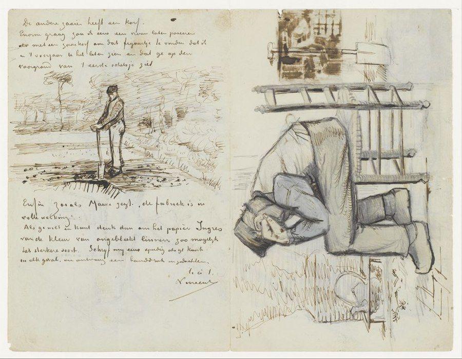 A letter by Vincent van Gogh