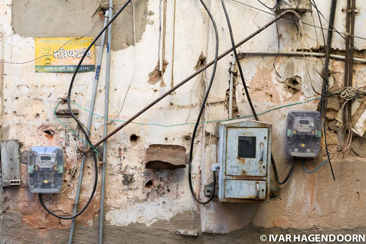 Wall and Electricity Cables, Jaipur