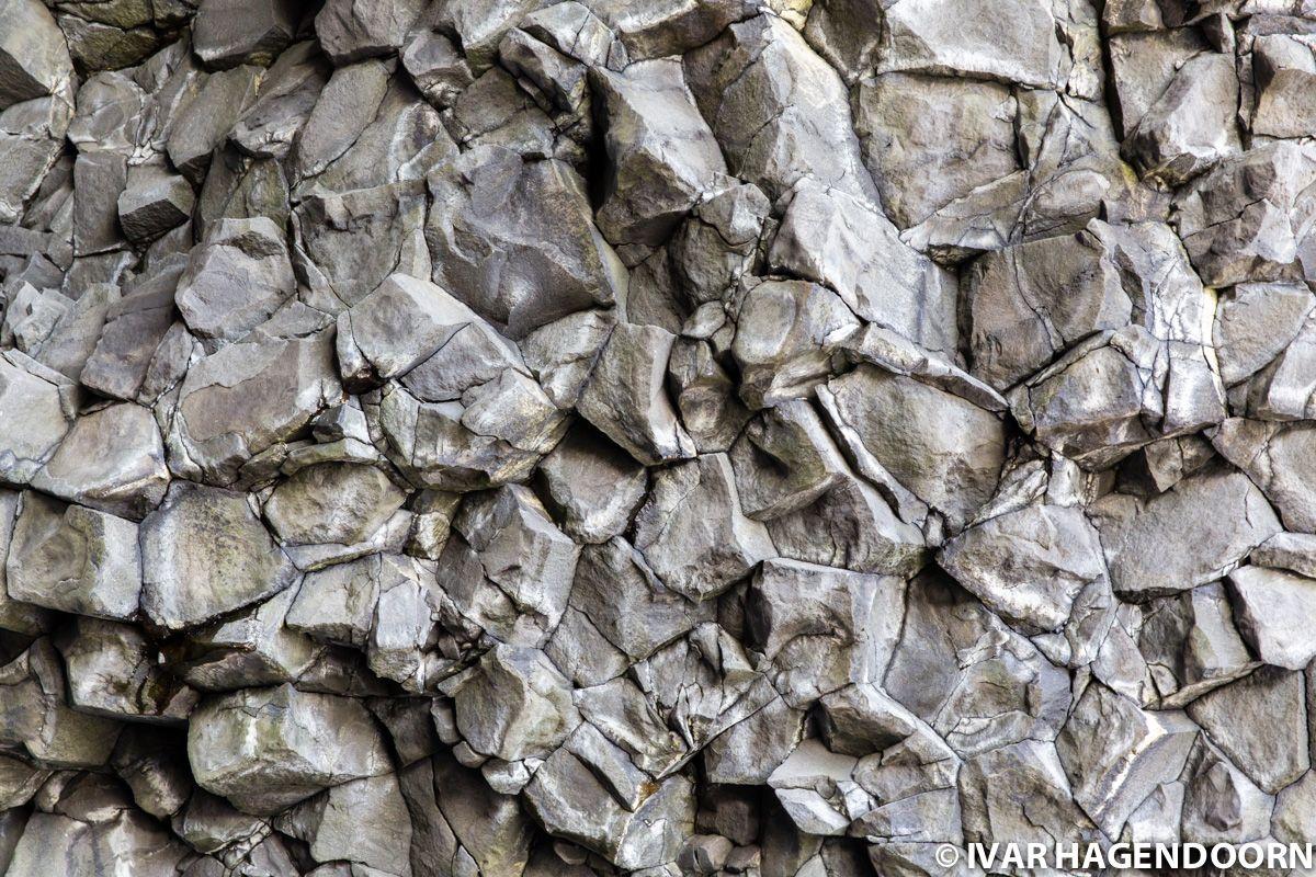 Reynisfjara basalt formation