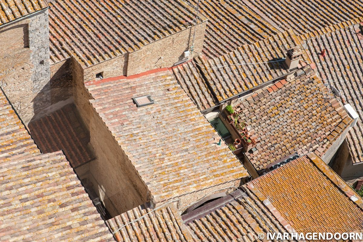 Red rooftops in San Gimignano