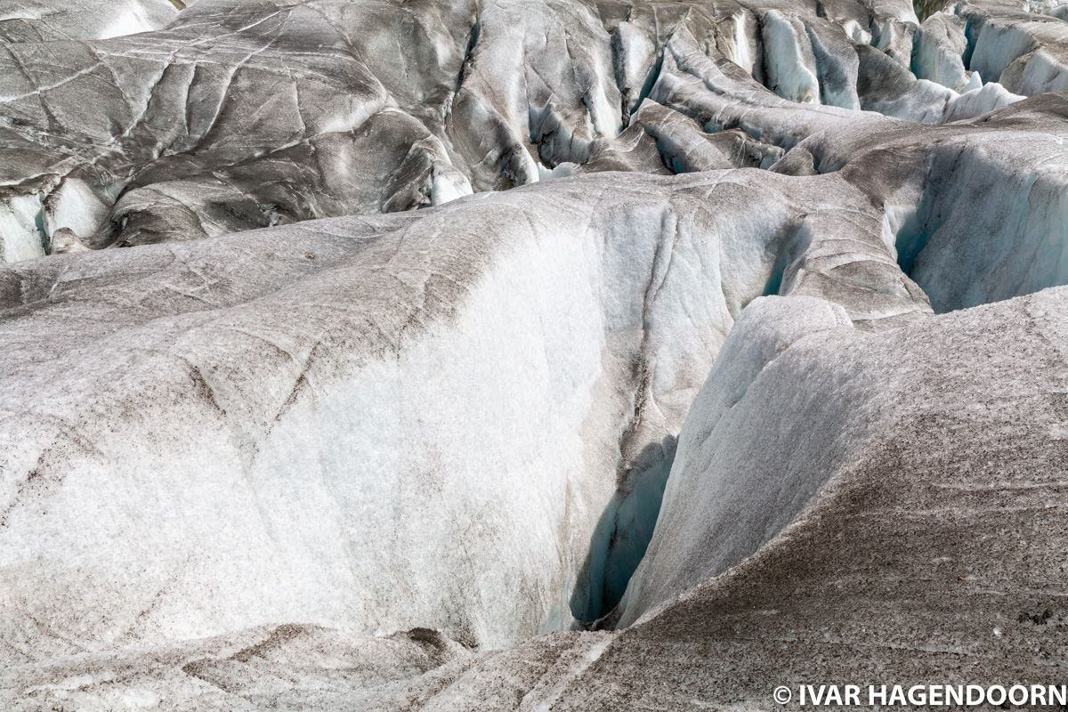 Aletschgletscher crevasses
